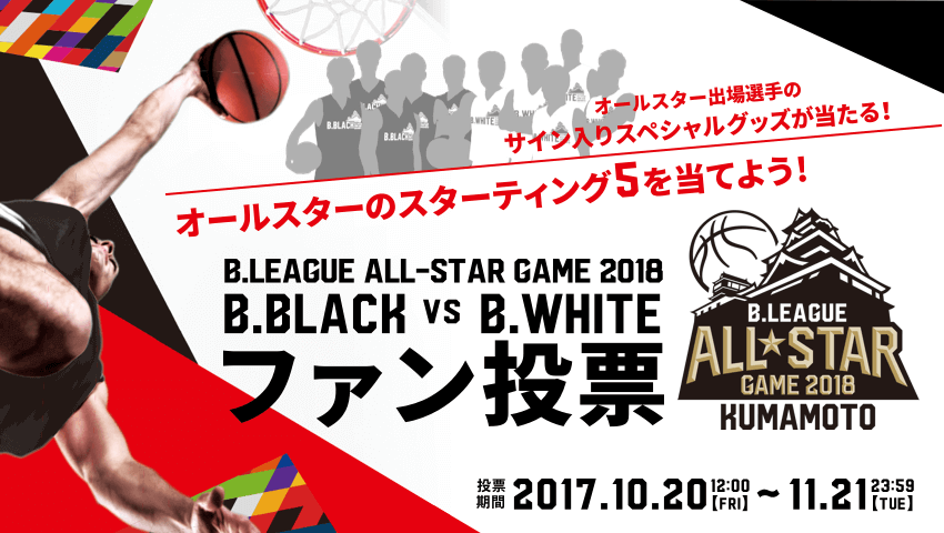 B.LEAGUE ALL-STAR GAME 2018 ファン投票
